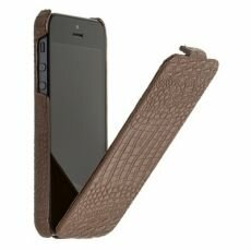 Чехол Borofone Crocodile flip Leather case коричневый для iPhone 5