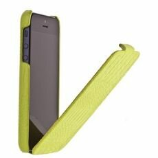 Чехол Borofone Crocodile flip Leather case зелёный для iPhone 5