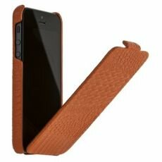 Чехол Borofone Crocodile flip Leather case оранжевый для iPhone 5