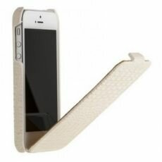 Чехол Borofone Crocodile flip Leather case белый для iPhone 5